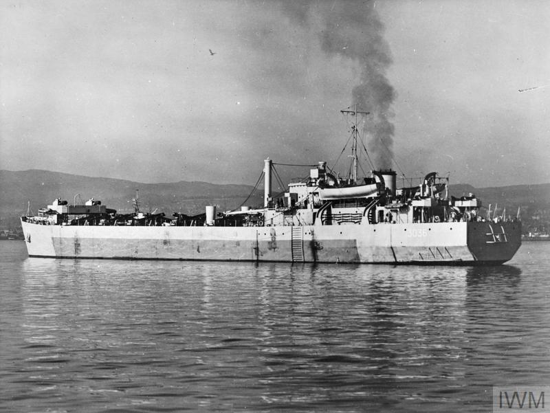 Английский танкодесантный корабль LST Mk 3
