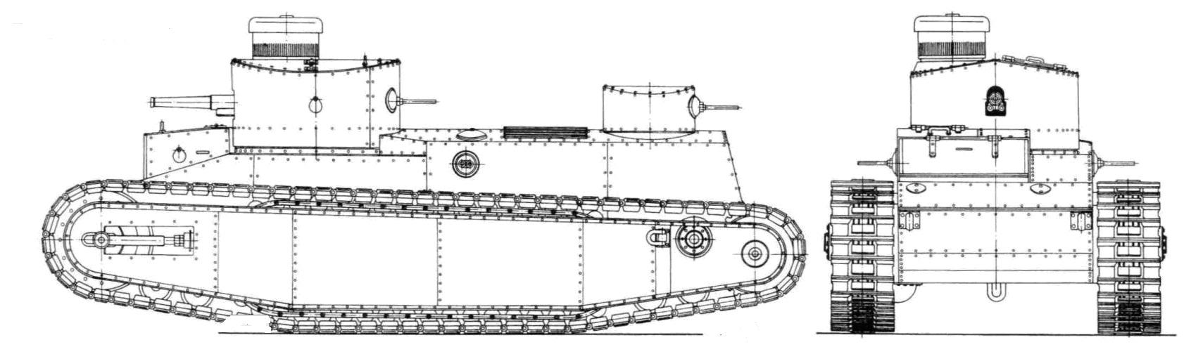 Манёвренный танк ГУВП**