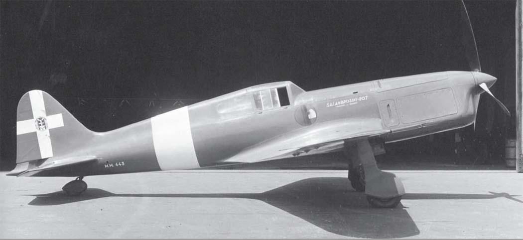 Итальянский истребитель S.A.I. S. S.107