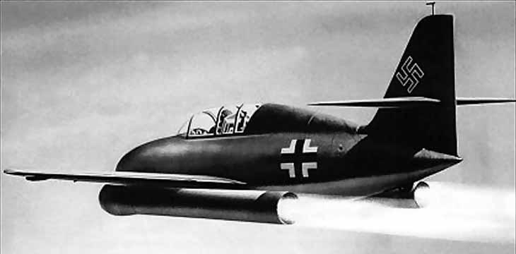 Немецкий истребитель на ракетных двигателях Messerschmitt Ме 328 А