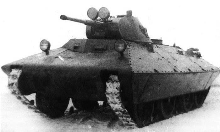 Лёгкий колёсно-гусеничный танк БТ-СВ «Черепаха»