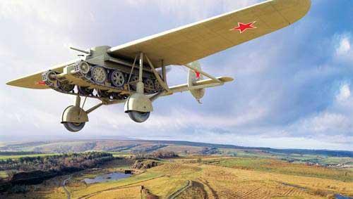 Советский летающий колёсно-гусеничный танк БТ