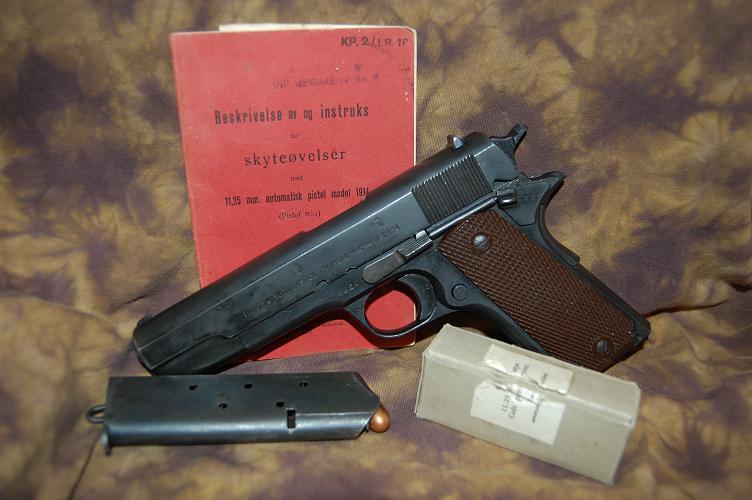 Пистолет «Kongsberg» М 1914 (Норвегия)
