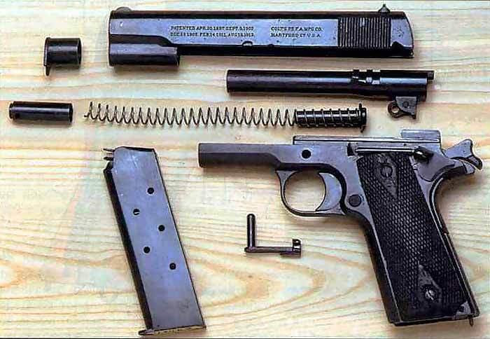 Конструкция пистолета «Colt» М 1911