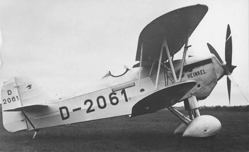 Германский истребитель Heinkel HD 38