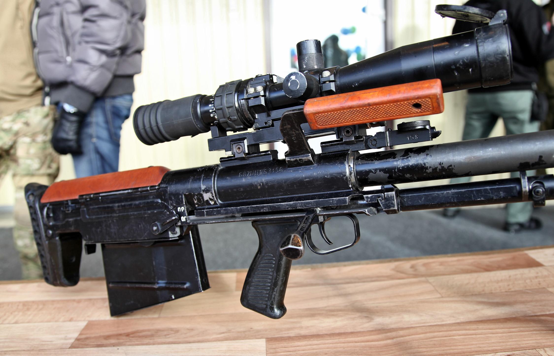 Конструкция винтовки КСВК