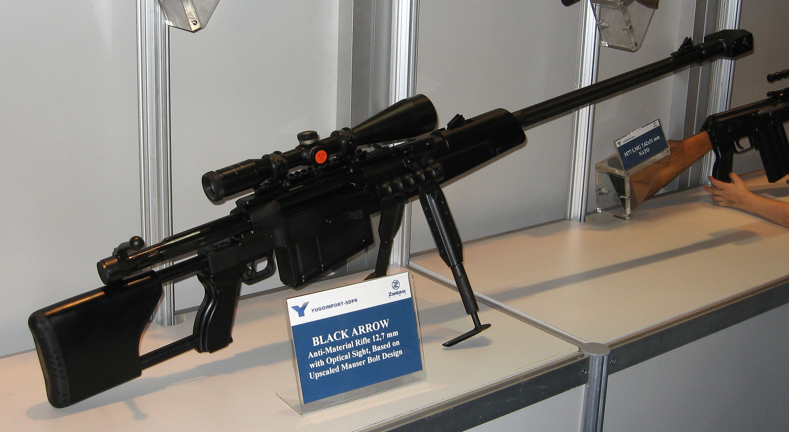 Крупнокалиберные винтовки М 93 «Black Arrow» (Югославия) и RT-20 (Хорватия)