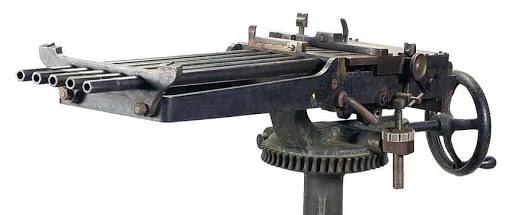 Конструкция пулемета «Nordenfeldt»
