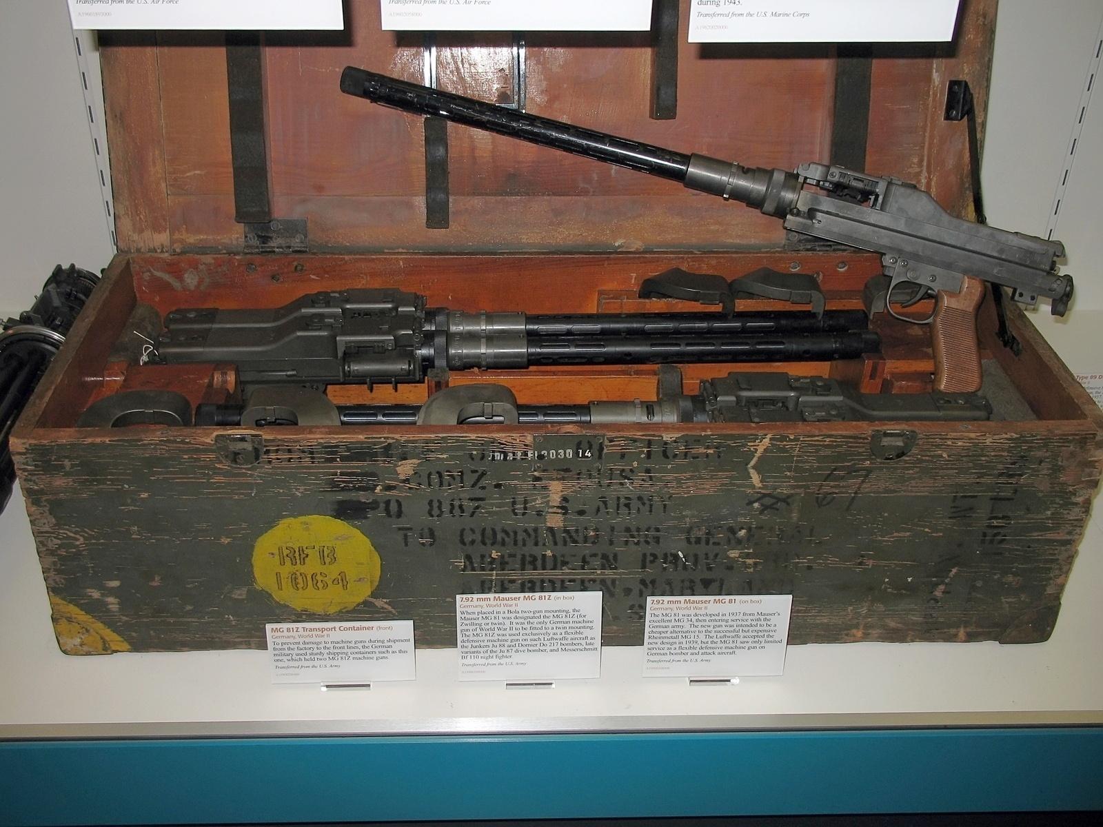 Ручной и авиационный пулемет MG 81 (Германия)
