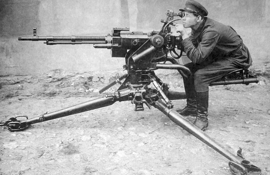 Крупнокалиберный пулемет Шпитального-Владимирова ШВАК (СССР)