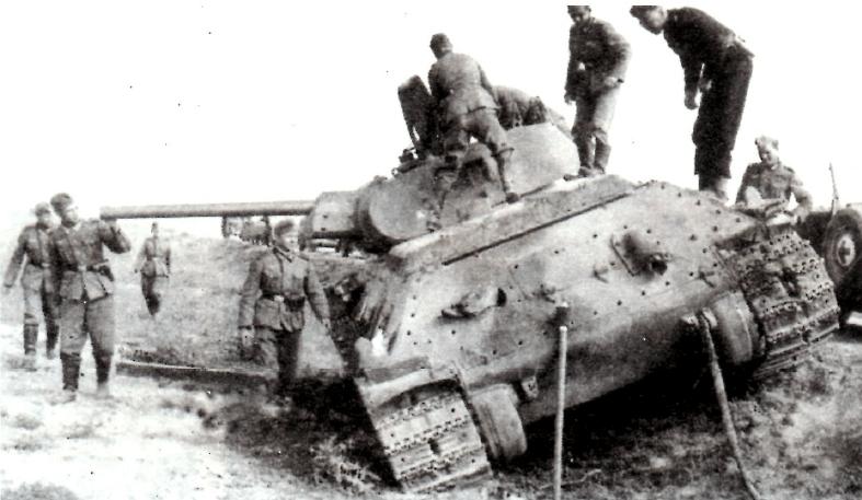 Т-34 в приграничных боях в Белоруссии