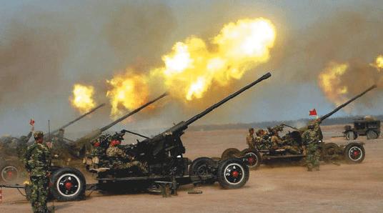 Буксируемая зенитная артиллерия Китая