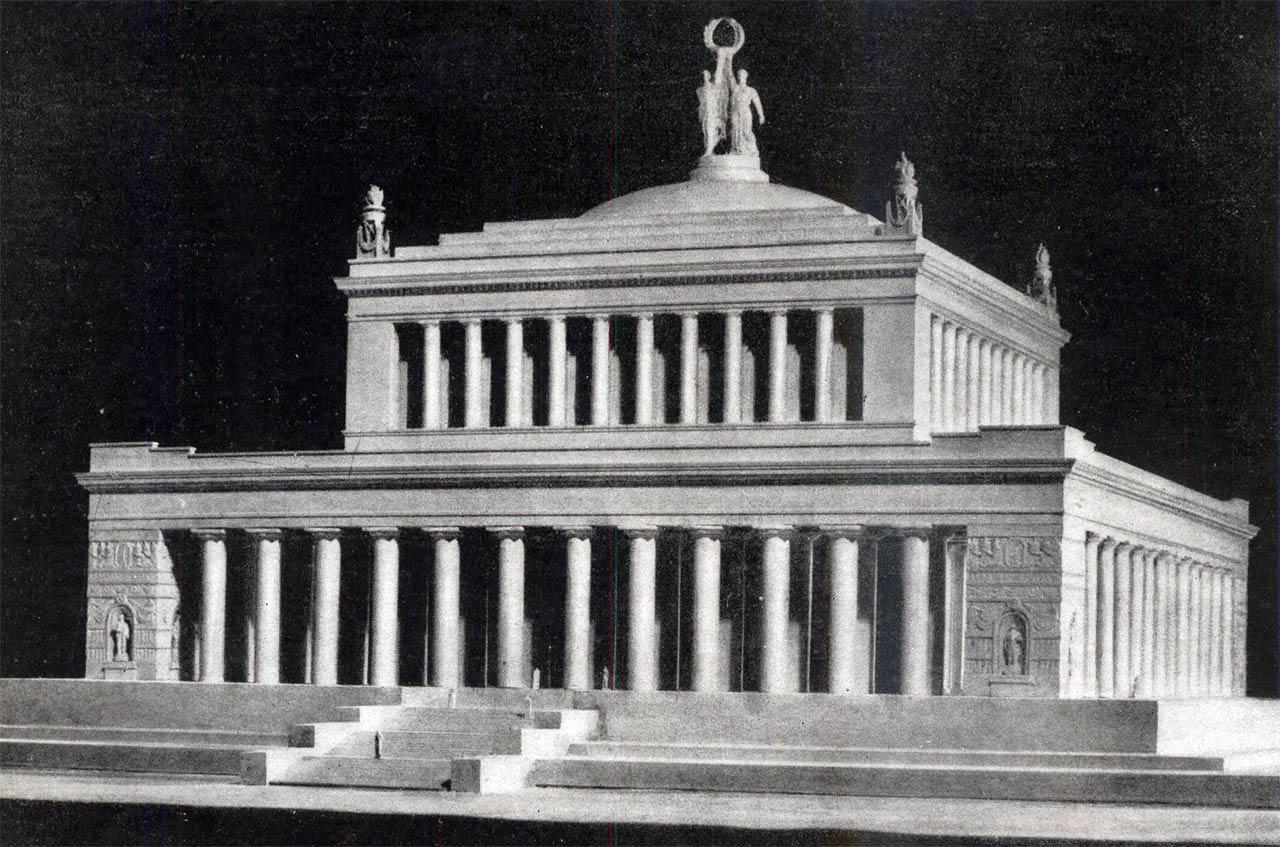 Пантеон советских героев - нереализованный проект гробницы в центре Москвы