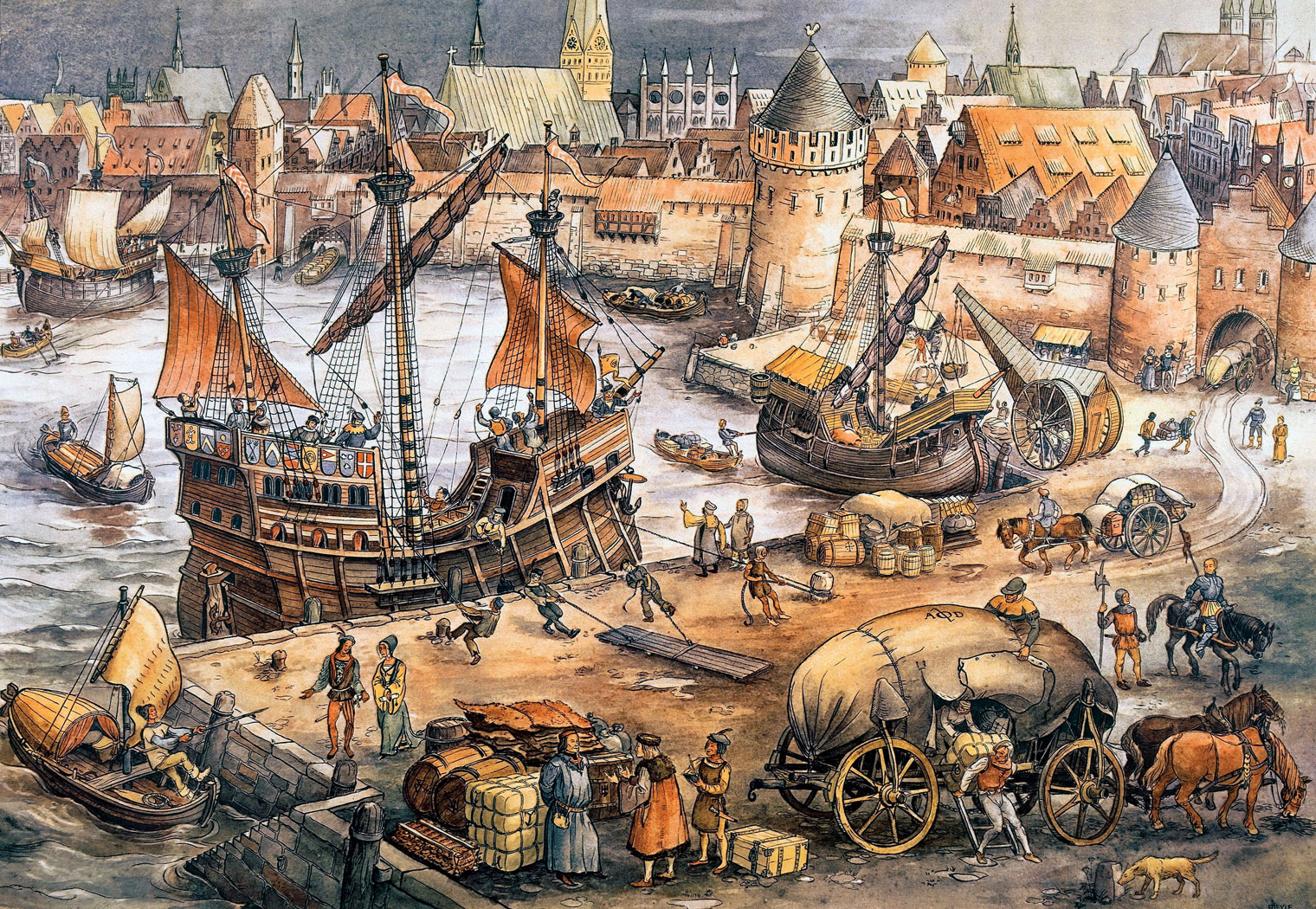 Санкции первого Евросоюза. Почему порты Ганзы не принимали русские корабли?